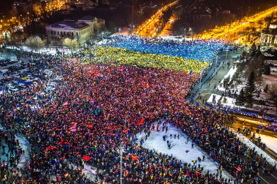 Are Romania's protests flagging? Not achance