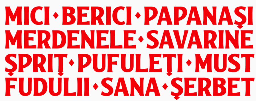 A font for Bucharest